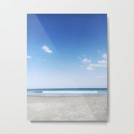 Ocea Sky 200916 Bondi Beach Minimalist Blue Sand Metal Print