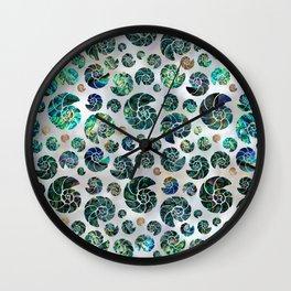 Sea shells pattern Abalone Wall Clock