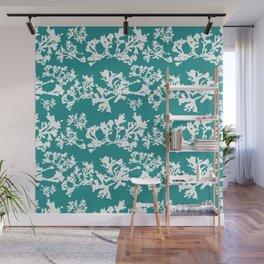 Turquoise Seaweed Pattern Wall Mural