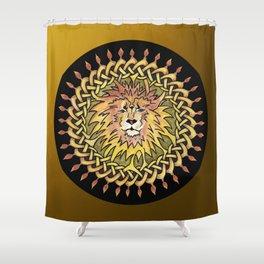 Lion Celtic Knot Mandala Shower Curtain