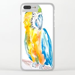 Parrot watercolour painting Clear iPhone Case