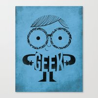 geek Canvas Prints featuring GEEK by Farnell