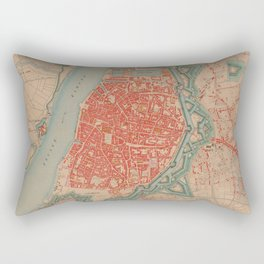 Vintage Map of Antwerp Belgium (1873) Rectangular Pillow