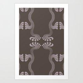 Art Nouveau Paisley Art Print