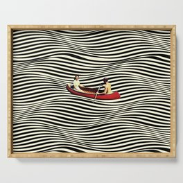 Illusionary Boat Ride Serving Tray