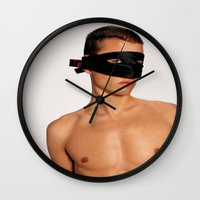 anonymous Wall Clocks featuring Anonymous by TheWank
