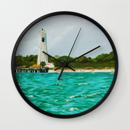 Egmont Key Lighthoues Painting Wall Clock