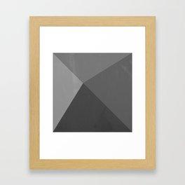 Pyramid - Black and White Framed Art Print