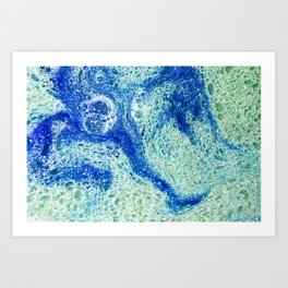 Octopie - Milk & Food Coloring Painting Art Print