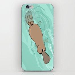 Kawaii platypus iPhone Skin