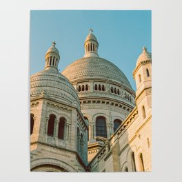 The Basilica of the Sacred Heart in Montmartre, Paris, France. Poster