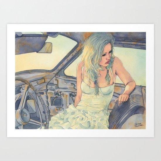 In a Car Art Print