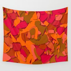 red camouflage Wall Tapestry