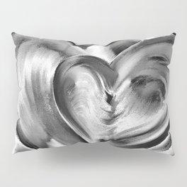Double Heart beat chrome Pillow Sham