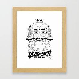 dead men tell no tale Framed Art Print