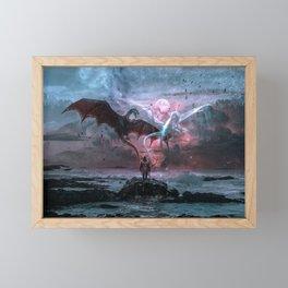 Dragon castaway Framed Mini Art Print