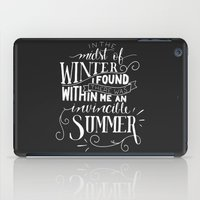 camus iPad Cases featuring Albert Camus - In the Midst of Winter by Amber Serene