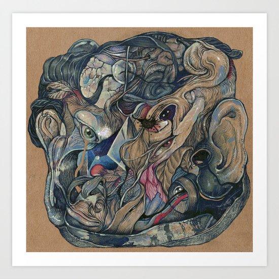mind-face Art Print