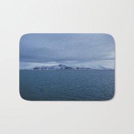 Snow-Capped Mountain, Iceland – Landscape Photography Bath Mat