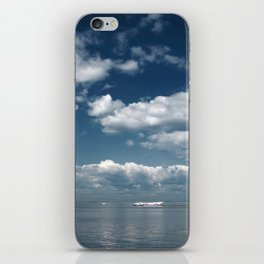 Beautiful blue sky over the Gulf of Finland iPhone Skin