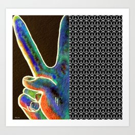 Peace Sign and Symbol Art Print