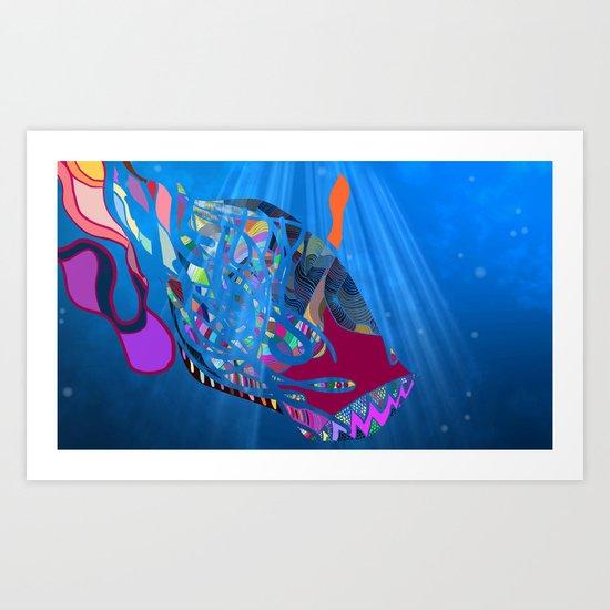 John 8/44+TheFish Nonrandom-art2 prime Art Print