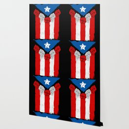 Raised Fists For Puerto Rico - Boricua Flag Wallpaper