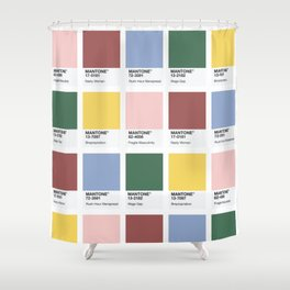 MANTONE® Colour Palette Shower Curtain