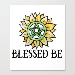 Blessed be Canvas Print