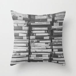 VHS Retro (Black and White) Throw Pillow