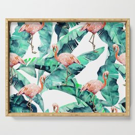 Tropical Flamingo Serving Tray