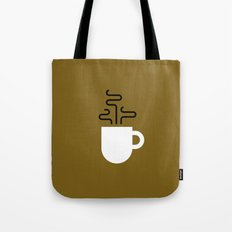 Coffee Cup Gold Tote Bag
