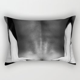 5095 The Squeeze | White Hug Black Embrace | Nude Rectangular Pillow