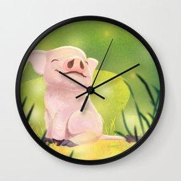Little pigglet Wall Clock