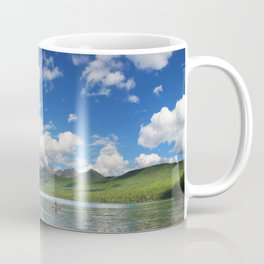 Paddleboarding in Glacier National Park Coffee Mug