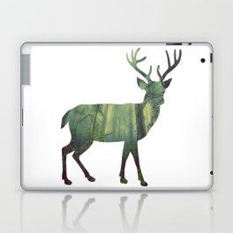 Reindeer Silhouette | Forest Photography Laptop & iPad Skin