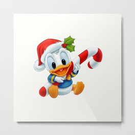 Christmas baby Donald Duck Metal Print
