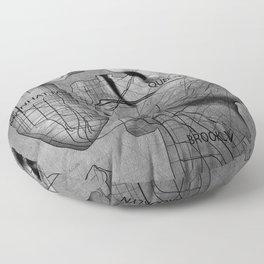 NYC MAP Gentle Kiss Floor Pillow