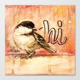 Chickadee Hi Canvas Print