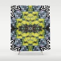 succulents Shower Curtains featuring Succulents by saralynn