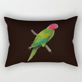 Colorful Parrot Rectangular Pillow