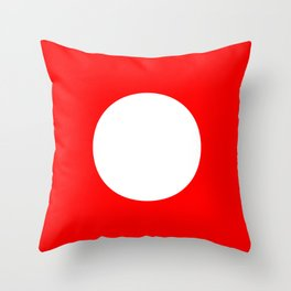 White circle on red Throw Pillow