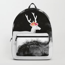 YOUNG DEER WITH FLOWER CROWN Backpack