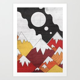 Three Moon Mounts Art Print