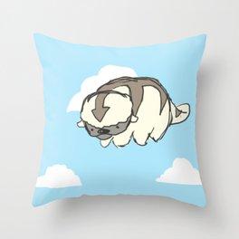sky bison Throw Pillow