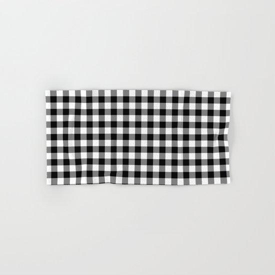 Gingham (Black/White) Hand & Bath Towel