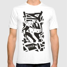 We Fought The Dragon White Mens Fitted Tee MEDIUM