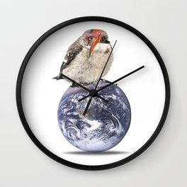 lightening bolt bird (Bowie) Wall Clock