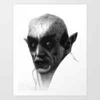 Nosferatu Ballpoint Art Print