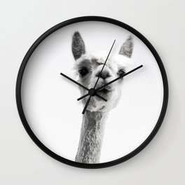 alpaca #society6 #decor #buyart Wall Clock